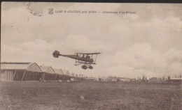 CPA:Dijon:Camp D'Aviation:Atterrissage D'un Bréguet:Cachet Militaire - Dijon
