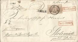 AUSTRIA06 - Lettera Racc. Del 1/10/1852 Da Kiemsier A Stolzmutz Con 3 Valori Da 6 Kreuzer   Leggi .... - Briefe U. Dokumente