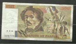 100 Francs Delacroix 1984 U.80 - 1962-1997 ''Francs''