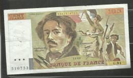 100 Francs Delacroix 1985 G.94 - 1962-1997 ''Francs''
