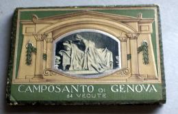 ITALIA -   FOLDER DI 63 VEDUTE DEL CAMPOSANTO DI GENOVA , EDIZIONI SCROCCHI ANNI 40 - Albums & Catalogues
