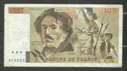 100 Francs Delacroix 1986 N.108 - 1962-1997 ''Francs''