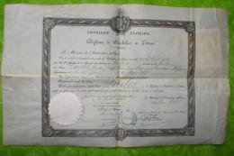 BVD3 Diplome De Bachelier ès Lettres, Toulouse Août 1885, Pour Duclos De Castelnau Magnoac Hautes Pyrénées - Documentos Históricos