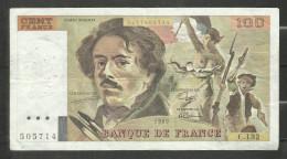 100 Francs Delacroix 1989 C.132 - 1962-1997 ''Francs''