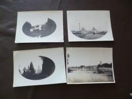 4 Photos Originales 8 X 11 Environ Fin 19ème Chatellerault - Lieux