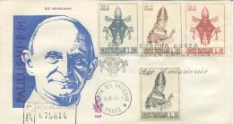 VATICANO - FDC 1963 VENETIA  -  INCORONAZIONE - VIAGGIATA IN RACCOMANDATA PER ROMA - FDC