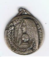 Medaille  NDame De La Mer    Aumonerie Des Prisonniers De Guerre   25 Mm  Poinçon Loire - Religion &  Esoterik