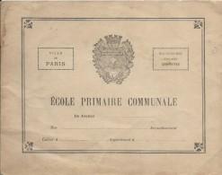 Couverture De Cahier De Classe/ Ecole Primaire Communale De Jeunes /Ville De Paris /Vers1900-1925  CAH103 - Autres Collections