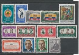 COLOMBIE - POSTE AERIENNE - YVERT SERIE N° 365/377 ** -  COTE = 20 EURO - - Colombie