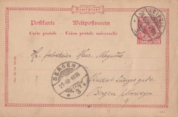 DR Ganzsache Leipzig 24.10.96 Gelaufen Nach Bergen (Norwegen) - Deutschland
