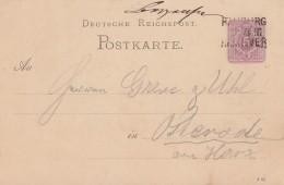 DR Ganzsache Bpst. L3 Hamburg - Hannover - Deutschland
