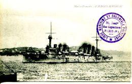 """N°49515 -cpa Marine Française """"Waldeck Rousseau"""" - Guerra"""