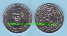 "THAÏLANDE  20  BAHT  2.016  (2.014)  ""50th Anniversary Of Chiangmai University""  Cu-Ni  SC/UNC   T-DL-11.738 - Tailandia"
