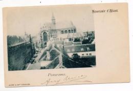 33459  -   Souvenir  D'  Alost - Panorama -  1899 - Aalst