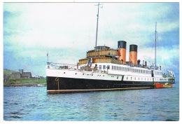 RB 1096 -  Arthur Dixon Postcard - Ship R.M.S. King George V Off Iona Island - Scotland - Maritime Shipping Theme - Paquebote
