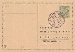 Ganzsache Mit Befreiungsstempel Georgswalde 22.9.38 Gel. Nach Fillipsdorf - Deutschland