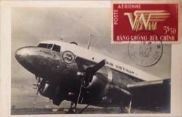 Maxi Maxicard Of South VietnamViet Nam 1952 : Air Vietnam Plane / Airmail - Vietnam