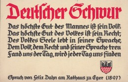 DR Propagandakarte Deutscher Schwur Nicht Gelaufen - Briefe U. Dokumente