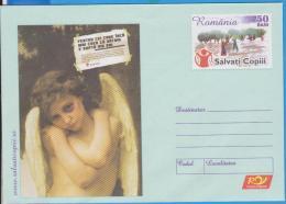 SAVE THE CHILDREN ANGEL  ROMANIA  STATIONERY - Vignetten (Erinnophilie)