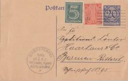 DR Ganzsache Dienst Zfr. Minr.23,30 Karlsruhe 9.3.22 - Dienstpost