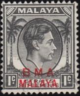 STRAITS SETTLEMENTS - Scott #256 King George VI (*) / Used Stamp - Malaya (British Military Administration)