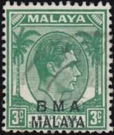STRAITS SETTLEMENTS - Scott #258 King George VI (*) / Used Stamp - Malaya (British Military Administration)