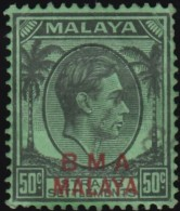 STRAITS SETTLEMENTS - Scott #267 King George VI (*) / Used Stamp - Malaya (British Military Administration)