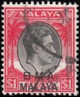 STRAITS SETTLEMENTS - Scott #268 King George VI (*) / Used Stamp - Malaya (British Military Administration)