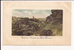 TERRENOIRE : Crassier Des Haut Fourneaux  - Carte Gaufrée -  Cachet  Au Verso - Saint Etienne