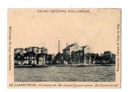 Chromo Pour De Jong Kakao, Wormerveer, Zaanstreek, En Allemand, Holland, Hollande - Chromos