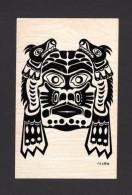 INDIENS DE L´AMÉRIQUE DU NORD - PACIFIC NORTHWEST COAST INDIAN MOTIF - LIZZARD-MASK - SEE MY DESCRIPTION - Indiens De L'Amerique Du Nord