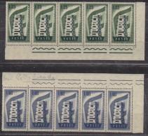 "Europa Cept 1956 Italy 2v Strip Of 5v VARIETY ""white In ""Poste"" ** Mnh (29688) - Europa-CEPT"