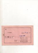 BILLET SNCF DE LONDRE POUR CALAIS DU 2 AOUT 1966 - Europe