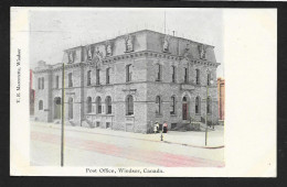 Post Office Building Windsor Ontario CANADA Used C1905 STK#93698 - Postal Services
