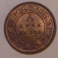 India 1/12 Anna 1933 UNC - India