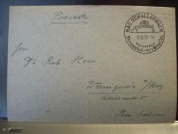 """Drittes Reich Stück Postsache Mit SST Aus Bad Schallerbach (Oberdonau) """"Rheumabad 36,4 Grad Cels.""""19.12.1939 - Covers & Documents"""