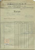 CROATIA, ZAGREB  --    ISIDOR SCHOLLER    --  JEWISH STORE  --    FACTURA, INVOICE   --   WITH TAX  STAMP  --  1922 - Rechnungen