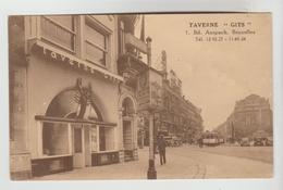 """CPSM BRUXELLES (Belgique) - Taverne """"GITS"""" 1 Boulevard Anspach - Cafés, Hotels, Restaurants"""