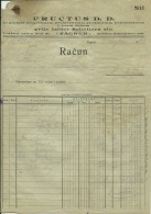 CROATIA, ZAGREB  --  ISIDOR SCHOLLER   ( NU  ,, FRUCTUS ,,) --  JEWISH STORE  -- 2 X  FACTURA, INVOICE   - 1921 / 1922 - Rechnungen