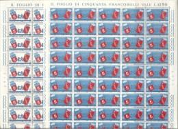 1959 Italia Italy Repubblica GEMELLAGGIO ROMA PARIGI  TWINNING 47 + 3 Serie Di 2v. MNH** - Fogli Completi