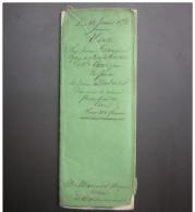 Manuscrit De 1852 Vente D'une Pièce De Vigne (Lot Et Garonne Castelmoron Sur Lot) Lalaunie à Debret - Manuscripts