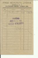 CROATIA, ZAGREB  --  MAKSO WOHLMUTH --  JEWISH STORE  --  FACTURA, INVOICE - Invoices & Commercial Documents