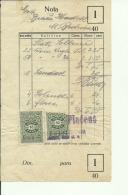 CROATIA, ZAGREB  --  STAKLARA, DUGA ULICA 4  --  FACTURA, INVOICE - Rechnungen