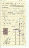 CROATIA, ZLATAR BISTRICA  --   ADOLF WEISS I SIN    --  JEWISH STORE --   FACTURA, INVOICE -  1927 -  WITH TAX STAMP - Invoices & Commercial Documents