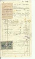 CROATIA, ZLATAR BISTRICA  --   ADOLF WEISS I SIN    --  JEWISH STORE --   FACTURA, INVOICE -  1927 -  WITH TAX STAMP - Rechnungen