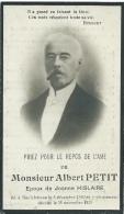 Souvenir Mortuaire - Albert Petit, Né à Neufchâteau En 1890 Et Y Est Décédé En 1925 - Décès