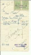CROATIA, ZLATAR BISTRICA  --   ADOLF WEISS I SIN    --  JEWISH STORE --   FACTURA, INVOICE -  1926 -  WITH TAX STAMP - Rechnungen