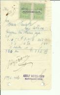 CROATIA, ZLATAR BISTRICA  --   ADOLF WEISS I SIN    --  JEWISH STORE --   FACTURA, INVOICE -  1926 -  WITH TAX STAMP - Ohne Zuordnung