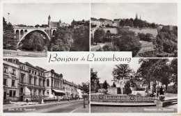 LUXEMBOURG - 4 Bilder Fotokarte Gel.1954?, 2 Sondermarken - Ansichtskarten