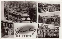 LUXEMBOURG - 5 Bilder Fotokarte Gel.1953?, Sondermarke - Ansichtskarten